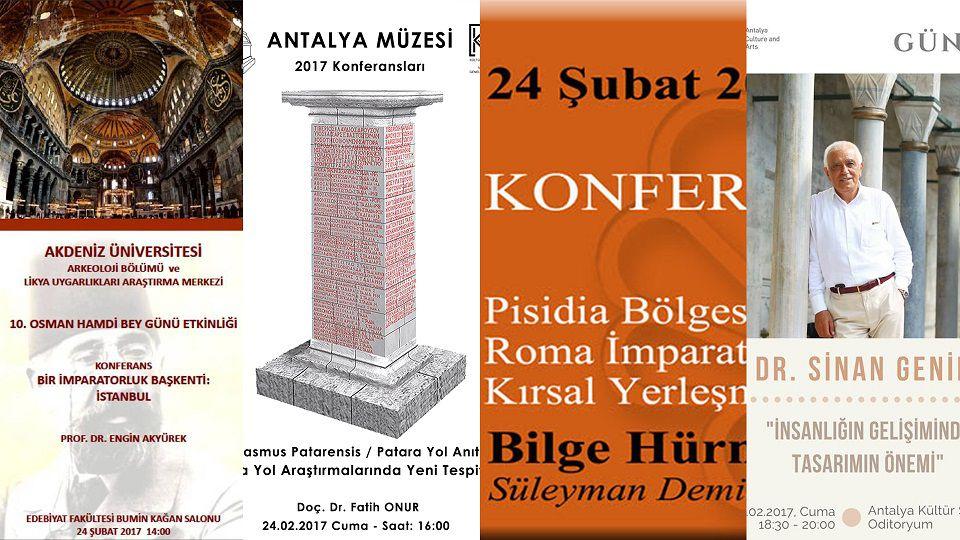 24 Şubat'ta Antalya'da 4 Konferans Birden