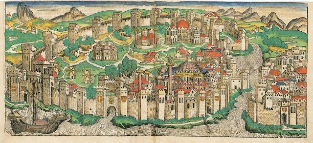 Konstantinopolis 1493. (Hartman Schedel ,Nüremberg Chronicle)