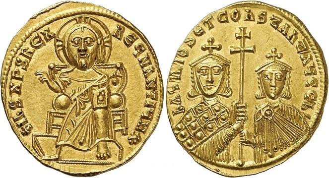 Konstantin (MS 868-879), Altın Solidus, 4.45g